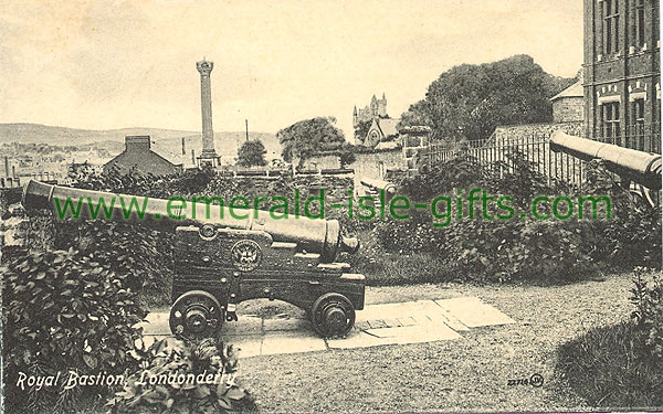 Derry - Derry City - Royal Bastion (old b/w Irish photo)