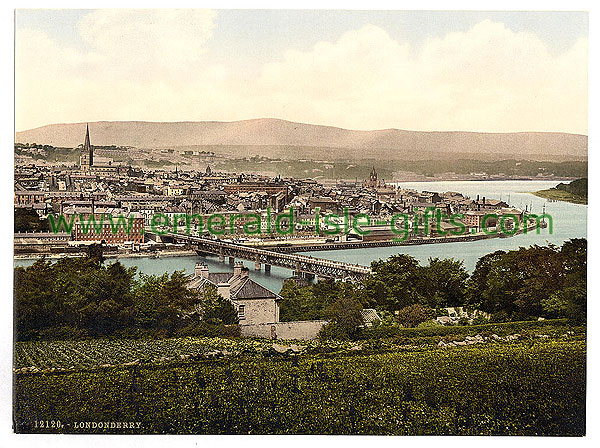Derry - City - Great photochrome view
