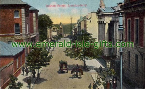 Derry City - Bishop Street in colour