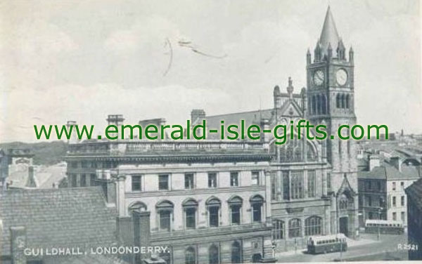 Derry City - The Guildhall old photo