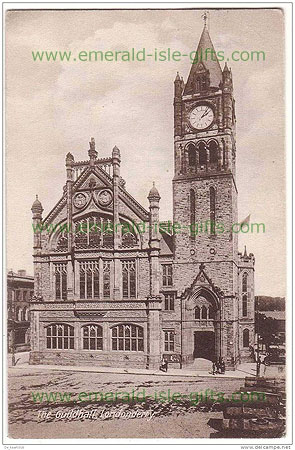 Derry City - The Guilhall old Irish photo
