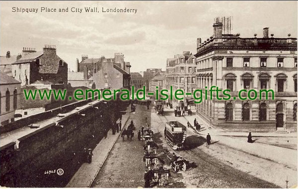Derry City - Shipquay Place at City Wall