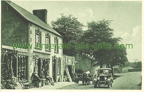 Derry - Desertmartin - Village (old b/w Irish photo)