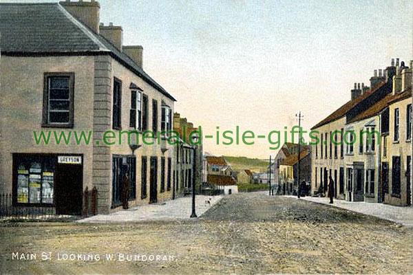 Donegal - Bundoran - Main St looking west (vintage Irish print)