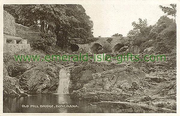 Donegal - Buncrana - Old Mill Bridge (historical irish photo)