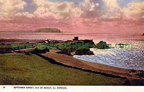 Donegal - Isle of Doath, September sunset (old Irish photo)