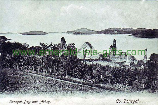 Donegal - Bay and Abbey old photo