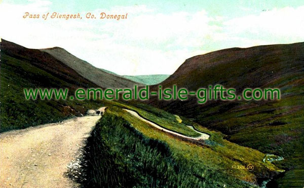 Donegal - Pass of Glengesh - old photo
