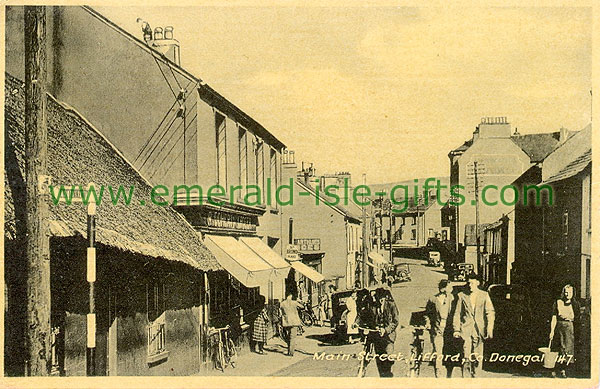 Donegal - Lifford - Main St old b/w photo