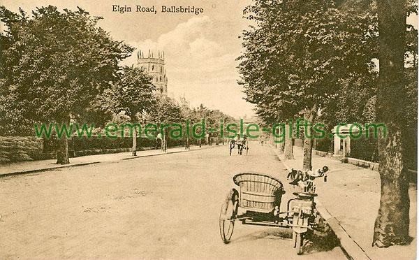 Dublin Sth - Ballsbridge - Elgin Road (old b/w Irish photo)