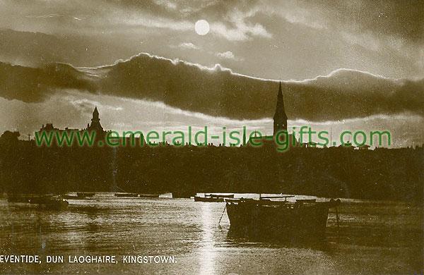 Dublin Sth - Dun Laoghaire - Eventide (old b/w Irish photo)