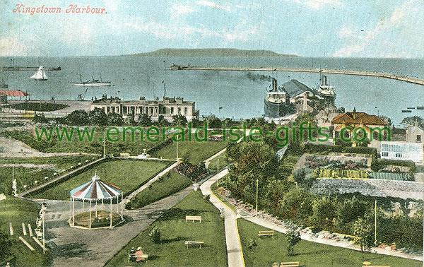 Dublin Sth - Dun Laoghaire - Kingstown Harbour (old colour Irish photo)