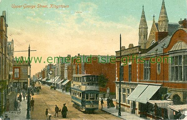 Dublin Sth - Dun Laoghaire - Upper George Street, Kingstown (old colour Irish photo)