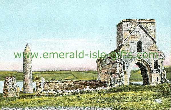 Fermanagh - Devinish Island - Antiquities Devenish Island Lough Erne