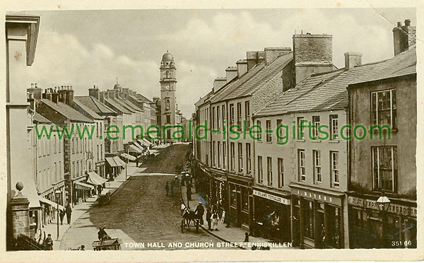 Fermanagh - Enniskillen - Town Hall and Church Street