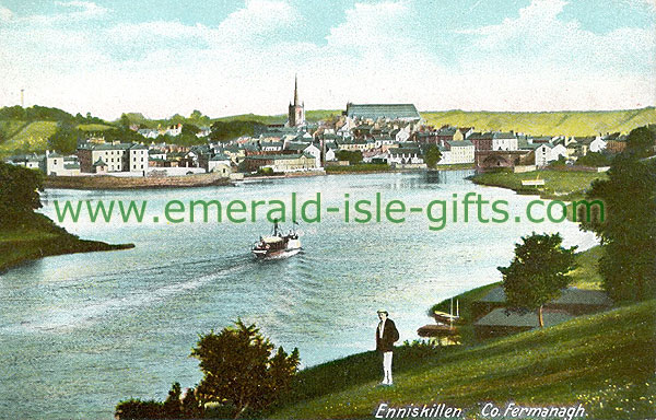 Fermanagh - Enniskillen - River and town view