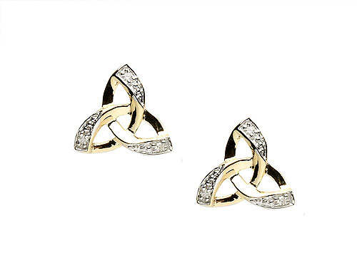 14K Irish Trinity Knot Design Earrings