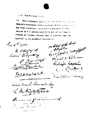 Anglo Irish Treaty, 1922