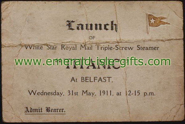 1911 - Ticket for Launch of the Titanic