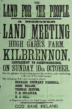 Land League Recruitment Poster