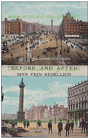 1916 Dublin City Centre - Before and After