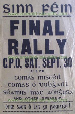 Sinn Fein Election Poster (Print)