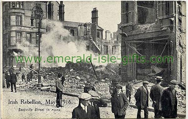 Sackville Street in ruins