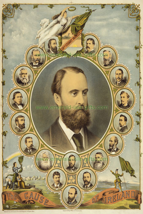 Parnell - Irish Home Rule - vintage old poster print