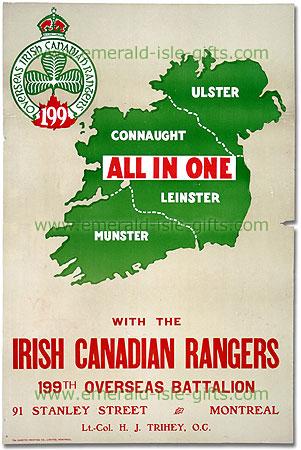 Irish Canadian Recruitment Poster
