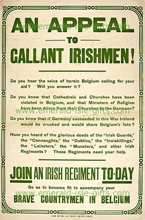 An Appeal to Gallant Irishmen !!