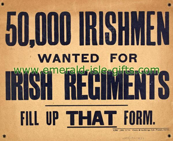 50,000 Irishmen Wanted !!