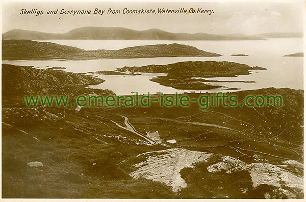 Kerry - Skelligs & Derrynane Bay from Coomakist, Waterville