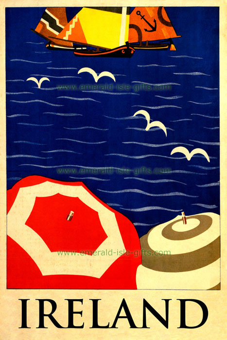 Old Irish Tourism Poster Print - 1940