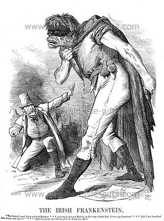 The Irish Frankenstein - Punch magazine (Poking fun at Parnell)
