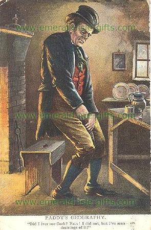 19th Century British postcard poking fun at the Irish (Paddy