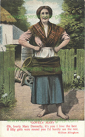 Lovely Mary Donnelly ! (Depiction of an Irish Colleen circa 1895)
