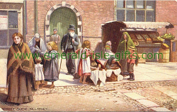 Killarney - Typical Irish street scene