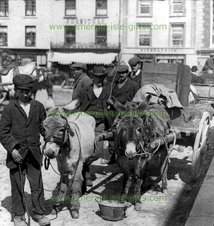 Market Day in Kanturk 1905 (old Irish photo)