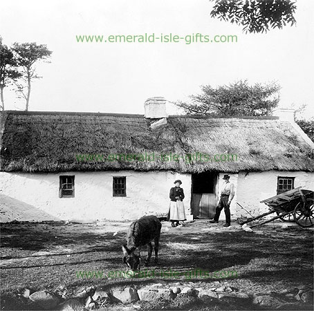 Traditional Irish Cottage in 1905