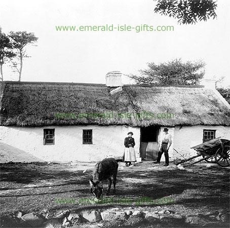 Traditional Irish Cottage in 1905 (great old Irish photo)