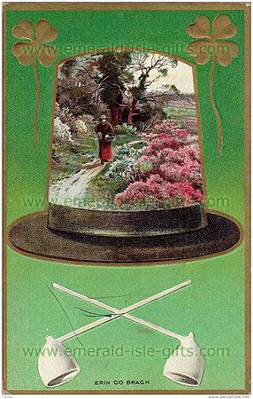 Memoris of old Ireland in a hat ! (nostalgic Irish print)