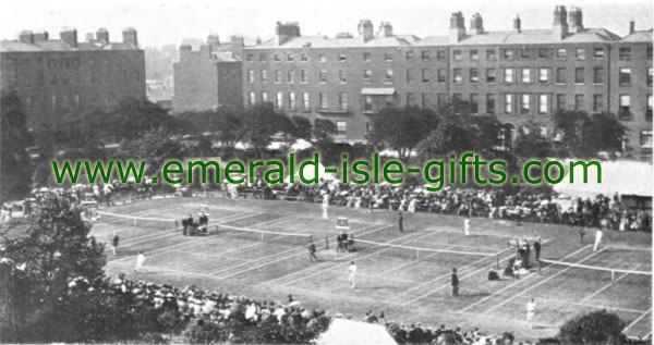 Tennis at the Royal Barracks in Dublin, 1901