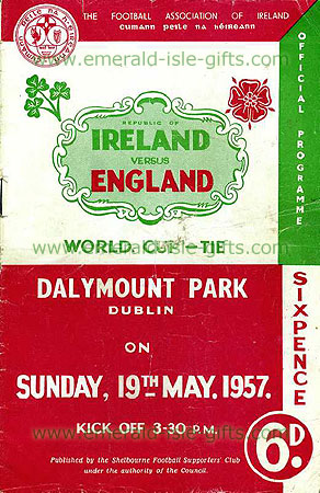 Ireland V England - Dalymount Park 1950