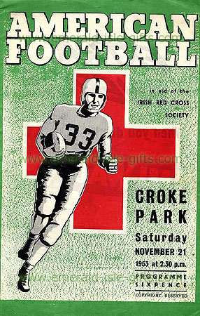 American Football in Croke Park, Dublin, Ireland, 1953
