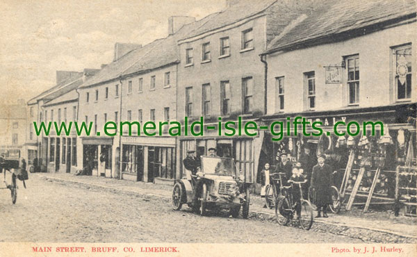 Limerick, Bruff, Main Street, old photo print