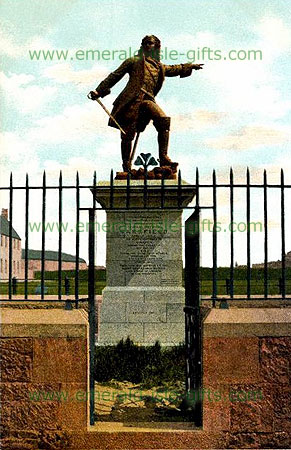 Limerick City - Patrick Sarsfield Statue - old print