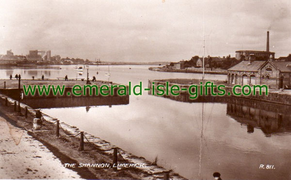 The River Shannon at Limerick - old photo