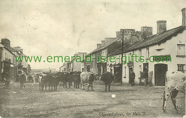 Longford - Edgeworthstown - Main St (old b/w Irish photo)