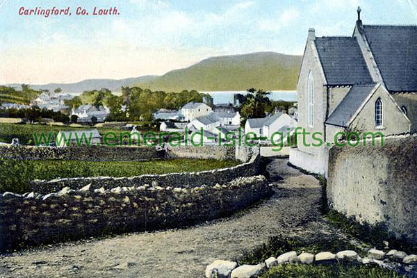Louth - Carlingford - old color image