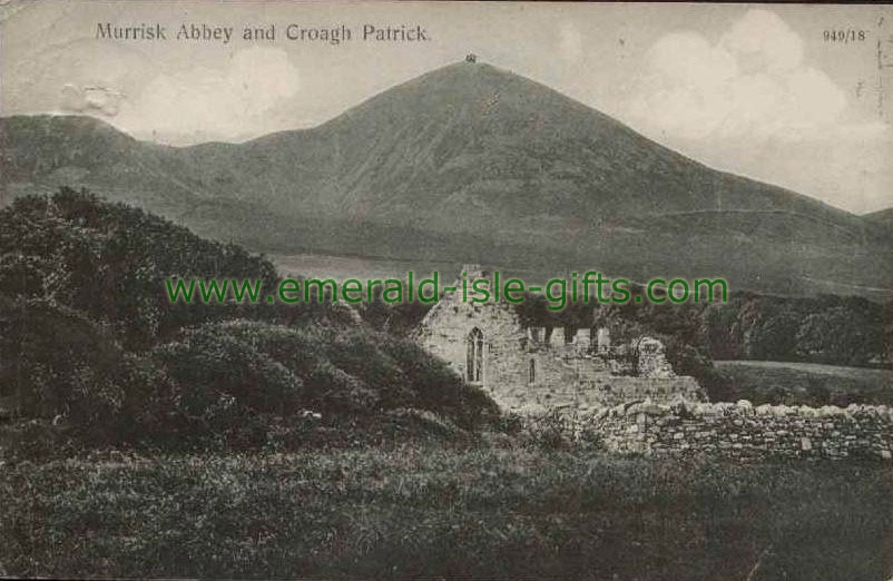 Mayo - Murrisk Abbey in shadow of Croagh Patrick